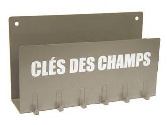 Cm - porte clés et lettres beige - Porte Clés Mural