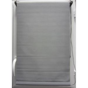 Luance - store enrouleur occultant gris 45x180cm - Store Enrouleur
