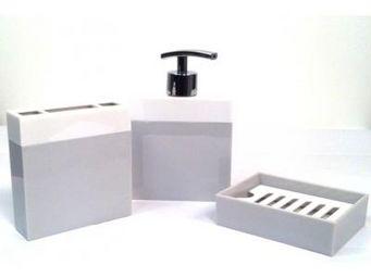Cm - pot de salle de bain design - couleur - gris - Accessoire De Salle De Bains (set)