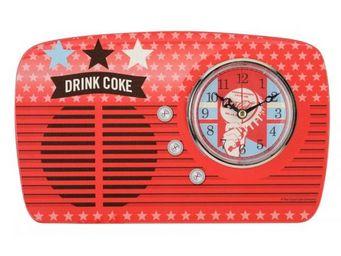 La Chaise Longue - horloge a poser coca americana - Horloge À Poser