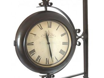 L'HERITIER DU TEMPS - pendule de gare murale rotative 30cm - Horloge Murale