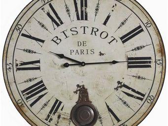 L'HERITIER DU TEMPS - pendule balancier en bois ø58cm - Horloge Murale