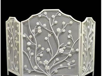 L'HERITIER DU TEMPS - grille de cheminée fleurs 118 cm - Pare Feu