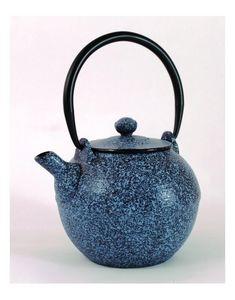 Aubry-Gaspard - théière en fonte bleue jean 0.6 litre 14x12x9cm - Théière