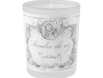 Mathilde M - bougie de voyage en verre givr�, parfum poudre de  - Bougie Parfum�e