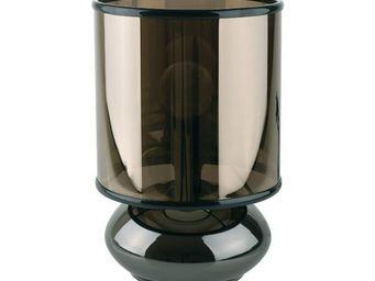 La Chaise Longue - lampe lentille gun métal - Lampe À Poser