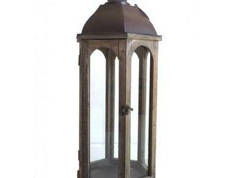 L'HERITIER DU TEMPS - grande lanterne bois et métal - Lanterne D'extérieur