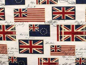 Le Quartier des Tissus - tissu imprime drapeaux royaume uni - Tissu Imprimé