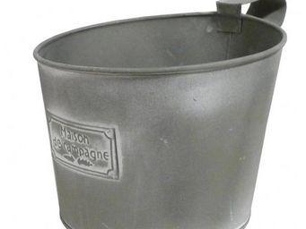 L'HERITIER DU TEMPS - pot jardinière en fer gris - Jardinière