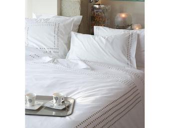 Essix home collection - essix venezia housse de couette blanc/beige - Housse De Couette