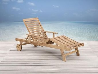 BELIANI - meubles en bois / teck - Chaise Longue De Jardin