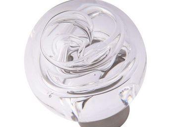 Les Verreries De Brehat - tubes de bulles sphérique incolore - Bouton De Porte