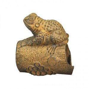 Demeure et Jardin - grenouille en fonte patinée façon rouille - Sculpture Animalière