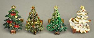 Demeure et Jardin - set de 4 ronds de serviettes de noel - Décoration De Noël