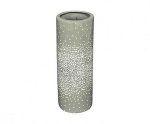 Demeure et Jardin - vase rouleau céramique grise et coquille d'oeuf - Vase À Fleurs