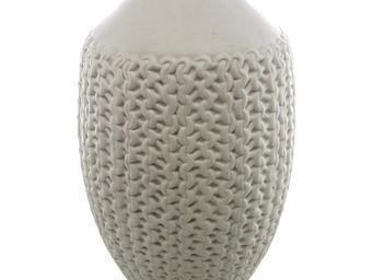 Interior's - vase en porcelaine tressée gm - Soliflore