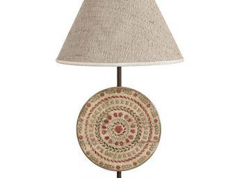 Interior's - pied de lampe rosace - Lampe À Poser