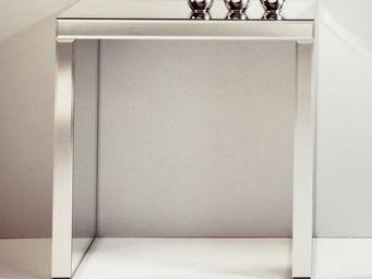WHITE LABEL - keops table console en verre miroir petit modèle - Console