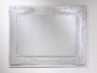 WHITE LABEL - dentelle miroir mural design en verre - Miroir