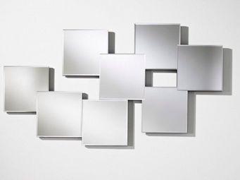 WHITE LABEL - nazca miroir mural design en petits carreaux bisea - Miroir
