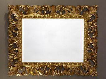 WHITE LABEL - vinci miroir mural en verre de style classique or - Miroir