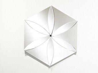 WHITE LABEL - liliane miroir mural design hexagonal en verre bis - Miroir