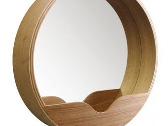 ZUIVER - miroir round wall 60' en bois diamètre 60 cm - Miroir