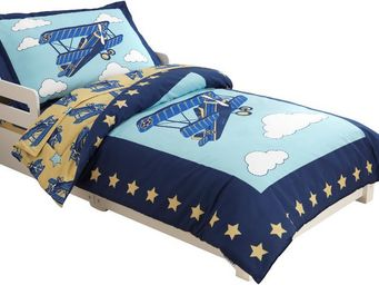 KidKraft - parure de lit 4 pièces aviateur en polyester et mi - Parure De Lit Enfant