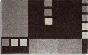 WHITE LABEL - samoa design tapis patchwork gris - 160x230 cm - Tapis Contemporain