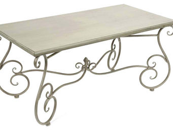 Amadeus - table basse m�tal coeur - Table Basse Rectangulaire