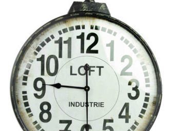 Antic Line Creations - horloge industrielle loft - Horloge Murale