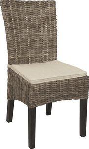 Aubry-Gaspard - chaise en acajou teint� - Chaise