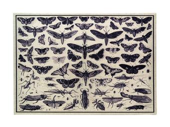 Interior's - tableau en lin iris - Tableau D�coratif