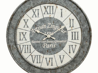 Interior's - horloge façon zinc - Horloge Murale