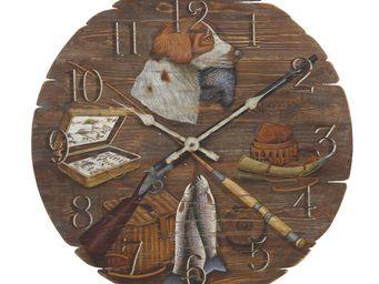 Interior's - horloge chasse et pêche - Horloge Murale