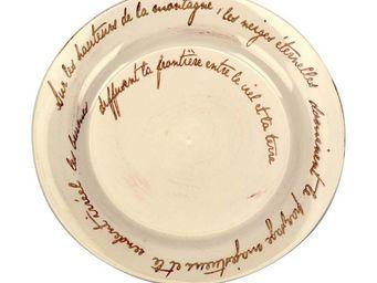 Interior's - assiette plate �criture - Assiette Plate