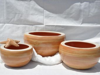 Les Poteries Clair de Terre - ginkgo - Vasque De Jardin