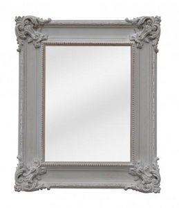 Demeure et Jardin - glace rectangulaire patine grise - Miroir