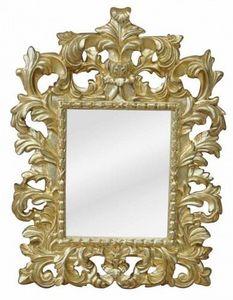 Demeure et Jardin - glace baroque dorée - Miroir