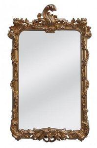 Demeure et Jardin - miroir baroque doré à coquille - Miroir