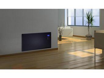 CHEMIN'ARTE - radiateur �lectrique design noir ecran led - Chemin�e �lectrique