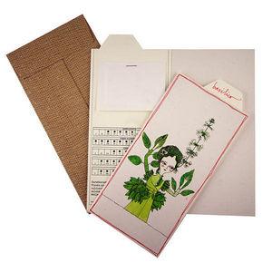 ROSSO CUORE - seeds cards erbe aromatiche - Carte De Voeux