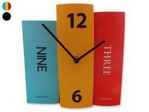 WHITE LABEL - horloge 3 livres d�corative et originale couleur d - Horloge � Poser