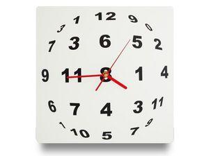 WHITE LABEL - horloge illusion optique en sphère de chiffre dec - Horloge Murale