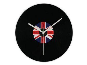 WHITE LABEL - l'horloge disque vinyle royaume uni deco maison d - Horloge Murale