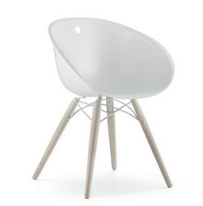 Mathi Design - chaise gliss wood pedrali - Chaise