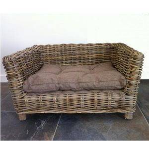 Mathi Design - niche en osier - Canapé De Jardin