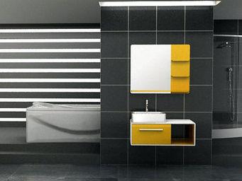 UsiRama.com - meuble salle de bain comtemporain racing 90cm - Meuble Vasque