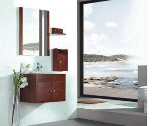 UsiRama.com - meuble salle de bain 60cm en bois massif sellerie - Meuble De Salle De Bains