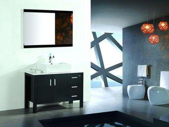 UsiRama.com - meuble de salle de bain noir en chêne massif espio - Meuble Vasque
